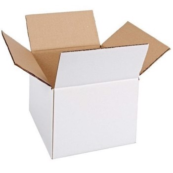 Cutie carton 150x100x150, alb, 3 straturi CO3, 435 g/mp