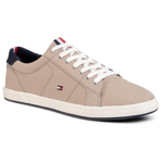 Teniși TOMMY HILFIGER - Iconic Long Lace Sneaker FM0FM01536AEP Stone BGE
