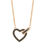 Bijuterii Femei Swarovski Lovely Crystal Pave Pendant Necklace BLACK