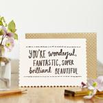 Felicitare - Luxe Wonderful, Fantastic