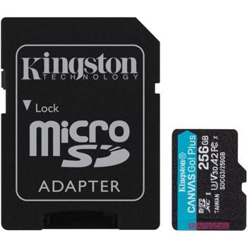 Card de memorie Kingston Canvas Go Plus MicroSDXC 256 GB UHS-I CL10 + Adaptor SD sdcg3/256gb