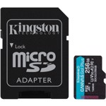 Card de memorie Kingston Canvas Go Plus MicroSDXC 256 GB UHS-I CL10 + Adaptor SD sdcg3/256gb