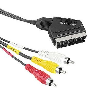 Cablu video Hama 43178 Scart Male Plug - 3 RCA Male Plugs, 1.5 m