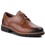 Pantofi CLARKS - Batcombe Hall 261275517 Dark Tan Leather