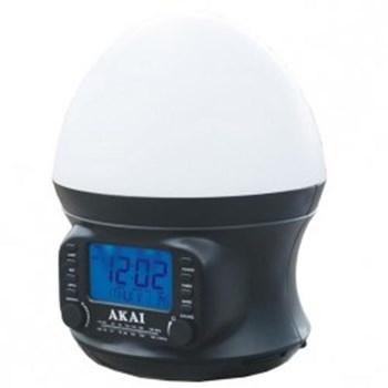 Radio ceas Akay AR321S, lampa Sunrise, negru
