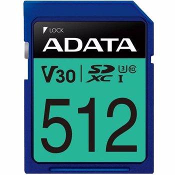 Card ADATA Premier Pro SDXC 512GB UHS-I U3 V30 80 Mbs