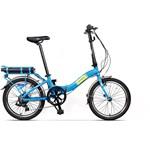 Bicicleta electrica Pegas Camping Dinamic, aluminiu, autonomie 40 km, Bafang 220W 36V, acumulator cu 40 celule LG 2800MAh, 7 viteze, albastru