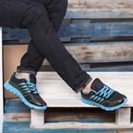 Adidasi barbati Monaldo negri cu albastru sport