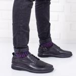 Pantofi Piele Jusano negri casual