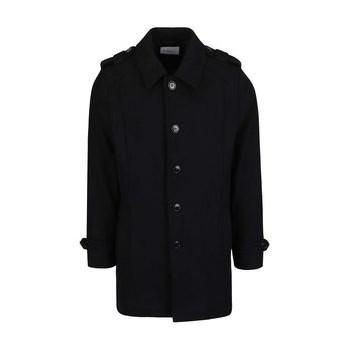 Palton negru Selected Homme Geneve
