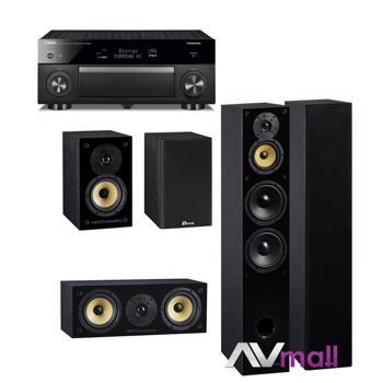 Pachet Receiver AV Yamaha RX-A1080 + Pachet Boxe Davis Acoustics Balthus 70 + Boxe Davis Acoustics Balthus 30 + Boxa Davis Acoustics Balthus 10
