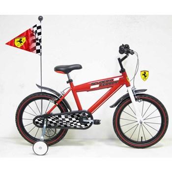 Bicicleta Ferrari 16 cu steag si casca
