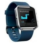 Ceas Smartwatch Fitness Fitbit Blaze, Argintiu, Curea large, albastra