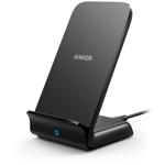 Incarcator wireless GSM Anker PowerWave Fast Wireless Stand, 10W, Negru, sistem siguranta MultiProtect, incarcare verticala sau orizontala