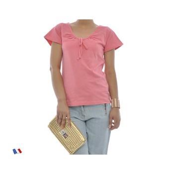 Tricou roz cu maneca scurta pentru femei