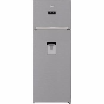 Frigider cu doua usi Beko RDNE535E30DZXB, 471 litri, Clasa A++, Compartiment 0°C, Compresor ProSmart Inverter, Everfresh+, NeoFrost, 193 cm, Argintiu