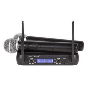 Set doua microfone VHF AZUSA MIK0141 (Negru)