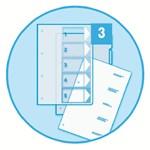 SEPARATOARE INDEX PLASTIC 1-5 IMPRIMABIL ESSELTE ES100211