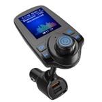 Modulator FM Techstar® T10D, Wireless, Bluetooth 3.0, Microfon Integrat, Quick Charge 3.0, Slot MicroSD, AUX IN/OUT