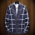 Pulover stilat ?i casual pentru barbati, din material tricot subtire, pentru toamna ?i iarna