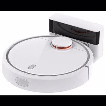 Robot aspirare Xiaomi Mi Robot Vacuum, 50 W, Clasa A+++, 5200 mAh, 14.4 V, App, Smart Vision Mapping, Alb