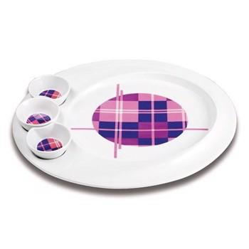 Platou pentru aperitive Nava portelan diametru 35 3 cm seria Carreaux 10-06-013-009