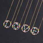 Colier modern, simplu ?i delicat, cu una din cele 26 de litere ale alfabetului