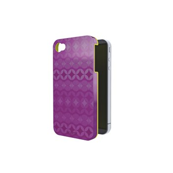 Carcasa, iPhone 4/4s, mov cu interior galben, LEITZ Complete Retro Chic