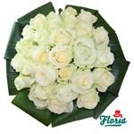 Buchet de 29 trandafiri albi