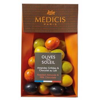 Migdale prajite in ciocolata cu lapte - Olives du Soleil, 150g