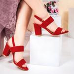Sandale cu toc dama rosii Perilida