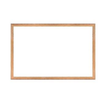 Tabla alba magnetica cu rama din lemn, 40x60 cm, fixare perete