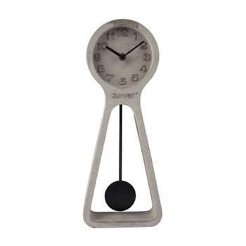 Ceas de masă din beton Zuiver Pendulum, gri