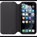 Husa Flip Cover Apple iPhone 11 Pro Leather Folio Black