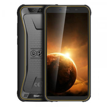 Telefon mobil Blackview BV5500 Plus, 4G, IPS 5.5inch, 3GB RAM, 32GB ROM, Android 10, MT6739 QuadCore, IP68, 4400 mAh, Dual SIM, Galben