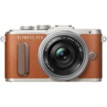 Aparat Foto Mirrorless Olympus E-PL8 Pancake Zoom Kit + EZ-M1442EZ Maro v205082ne000