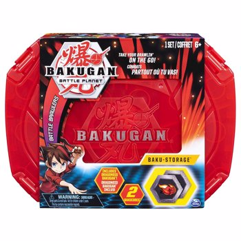 Figurine / Set Baku-cutie de depozitare Bakugan Battle Planet, Red, 20104005