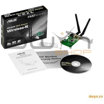 ASUS Adaptor wireless 300Mbps, PCI PCE-N15
