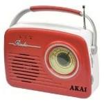 Radio Akai APR-11R USB SD card Rosu RADIO APR-11R/B RETRO USB
