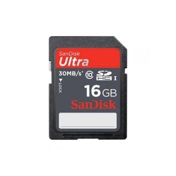 SanDisk Ultra SDHC 16GB UHS-I - Card de memorie 30MB/s SDSDU-016-U46