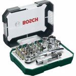 Bosch 2607017322 Rainbow Evo Set Screwdriver with small ratchet, 26 Pieces