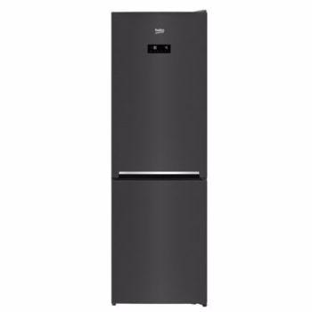 Combina frigorifica Beko RCNA366E40ZXBRN, 324 l, Clasa E, NeoFrost, Compartiment 0°C, Kitchen Fit, Everfresh+ , 185.2 cm, Dark Inox