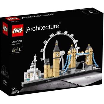 LEGO 21034 Architecture London Skyline Model Building Set, London Eye, Big Ben, Tower Bridge Collection, Construction Collectible Gift Idea