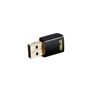 Adaptor USB Wireless ASUS USB-AC51 AC600, Dual-Band 150 + 433 Mps, negru