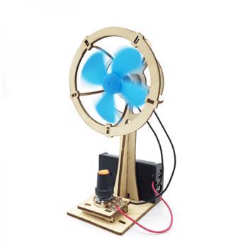 Jucarie educationala copii model Ventilator DIY kit experiment stiintific Puzzel 3D din lemn cu motoras interactiva 007