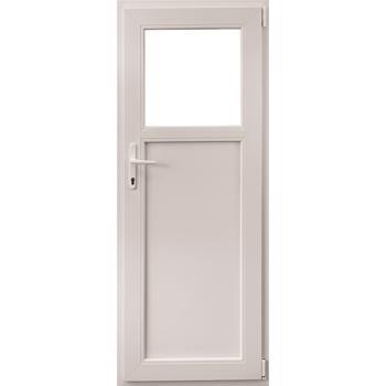 Usa PVC secundara, alb, 80 x 190 cm, dreapta
