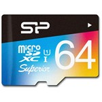 Card de Memorie Silicon Power Superior Pro microSDXC 64GB UHS-1 U3 90MBs + Adaptor SP064GBSTXDU3V20SP