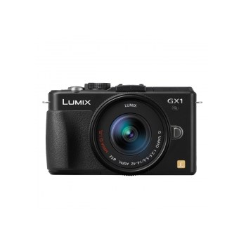 Aparat foto Mirrorless Panasonic DMC-GX1 negru + Obiectiv Lumix G Vario 14-42mm f/3.5-5.6 ASPH./ MEGA O.I.S.