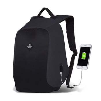 Rucsac cu port USB My Valice SECRET Smart Bag, gri-negru