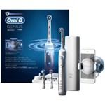 Periuta de dinti electrica Oral-B Genius 8000, SmartRing, 5 programe, 3 capete de periaj, Conectivitate Bluetooth, Trusa de calatorie cu suport pentru smartphone (Alb)